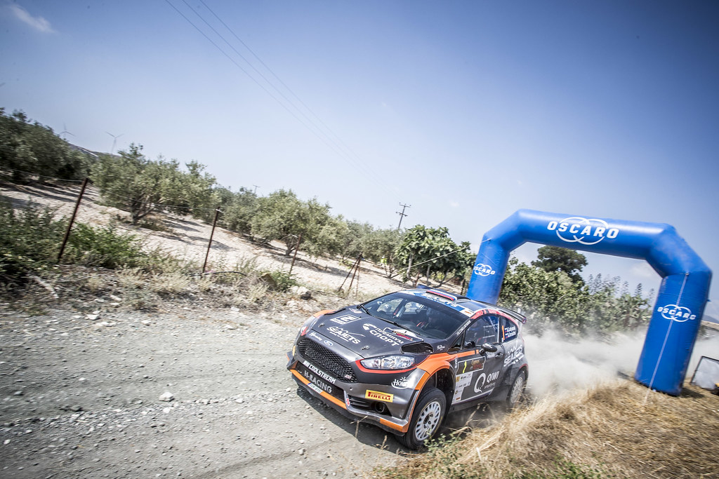 01 LUKYANUK Alexey (RUS), ARNAUTOV Alexey (RUS), RUSSIAN PERFORMANCE MOTORSPORT, FORD FIESTA R5, action during the 2018 European Rally Championship ERC Cyprus Rally,  from june 15 to 17  at Larnaca, Cyprus - Photo Gregory Lenormand / DPPI