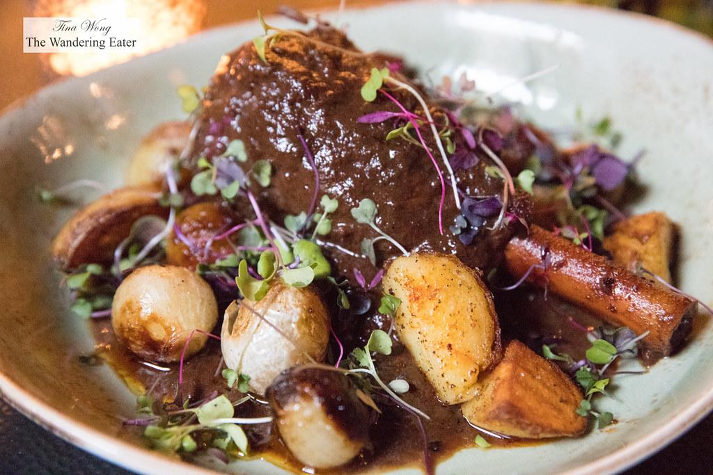 Lamb a la Mounia, Halawi dates, cipollini onions, potaotes