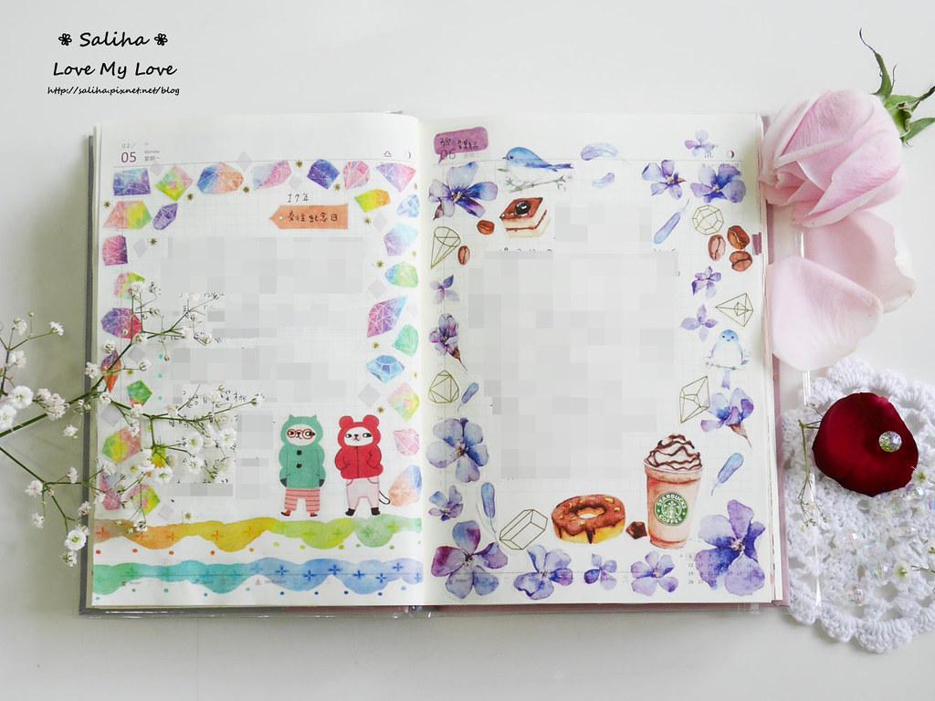 開花實驗室手帳設計裝飾紙膠帶 (2)