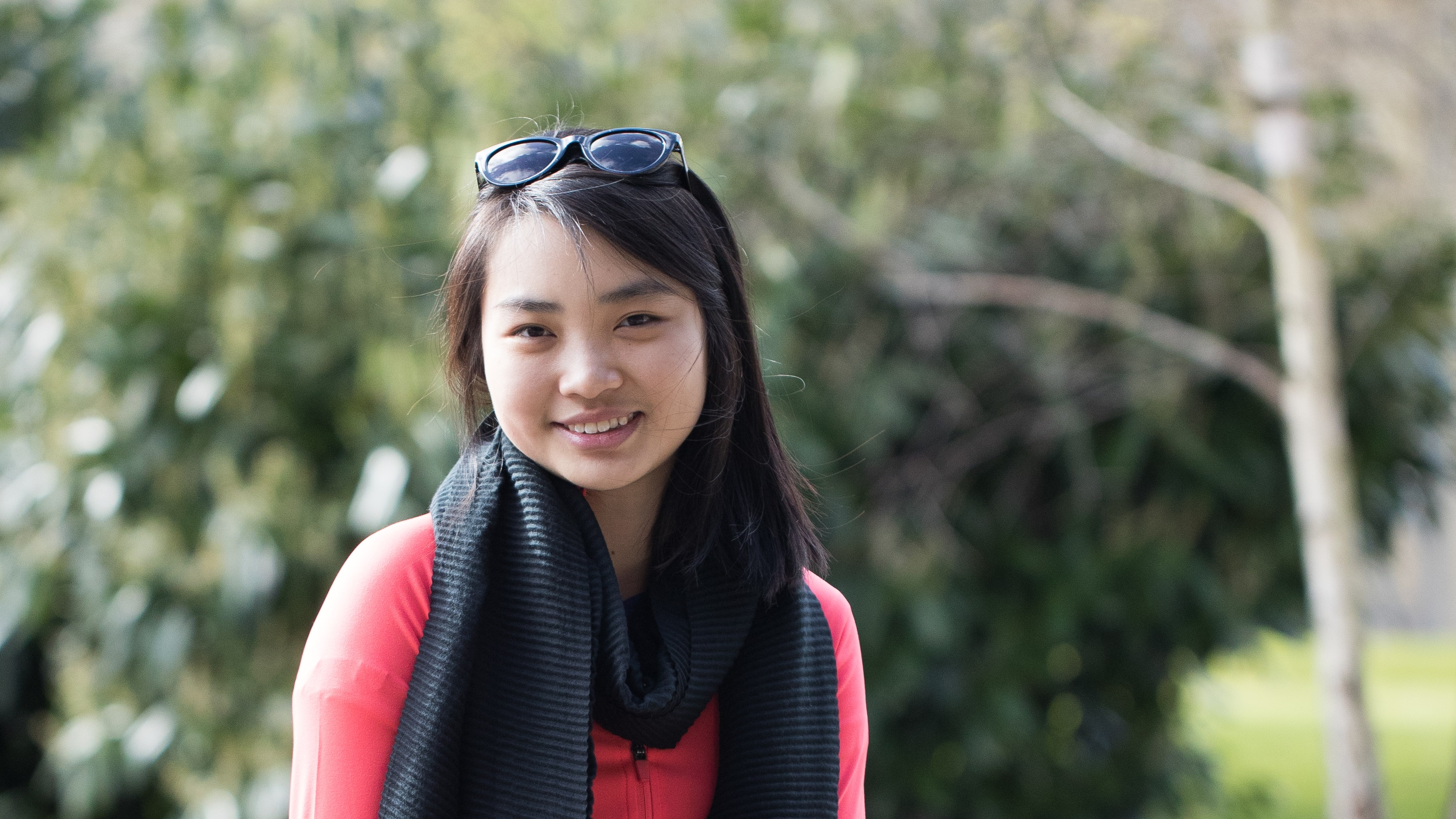 Portrait of Grace Ling on campus