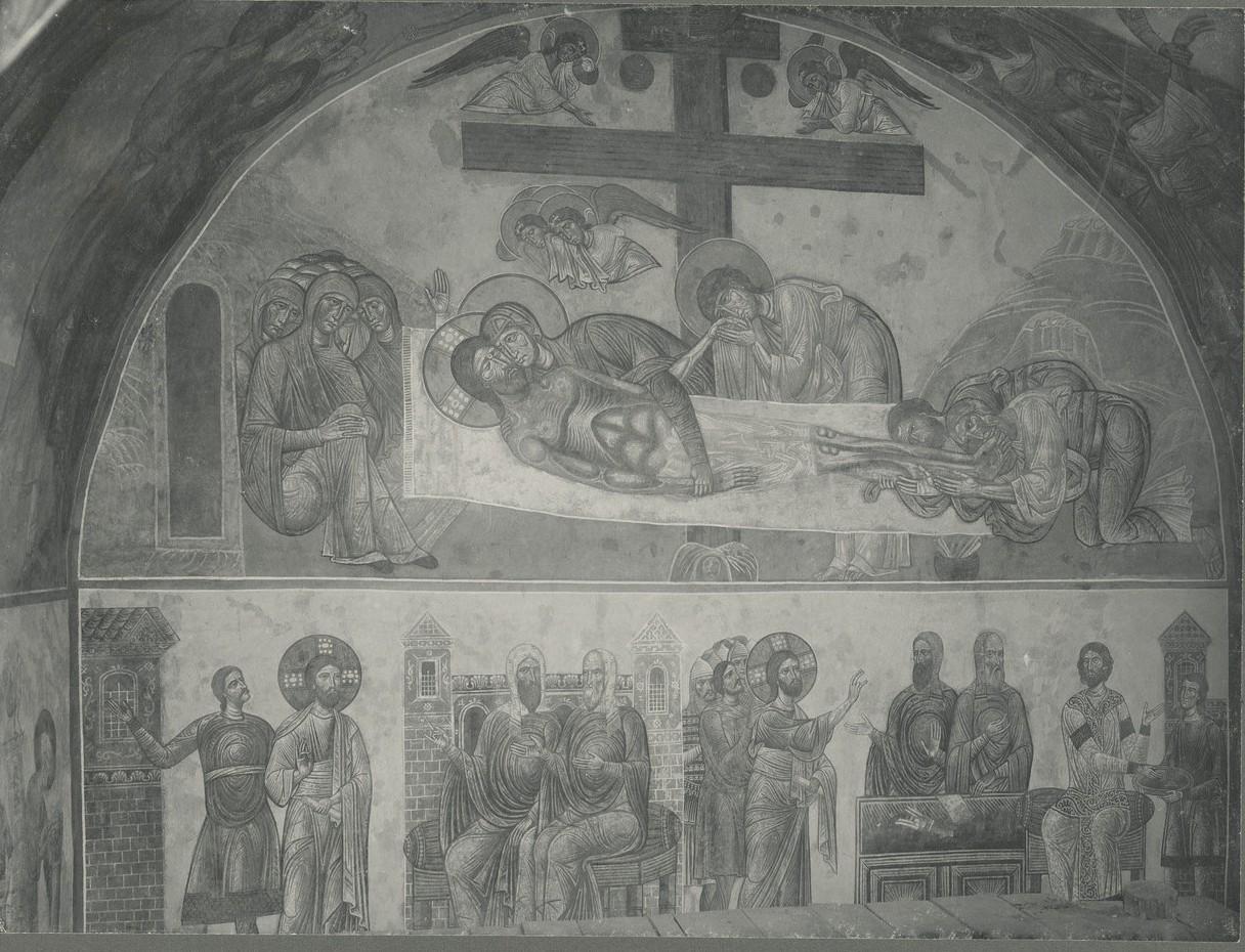Фрески  «Оплакивание Христа», «Суд Синедриона», «Христос перед Пилатом»