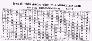 CG VyaPam BSc Nursing Answer Key