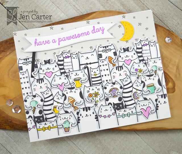 Jen Carter Cat Hugs Pawesome Day wm