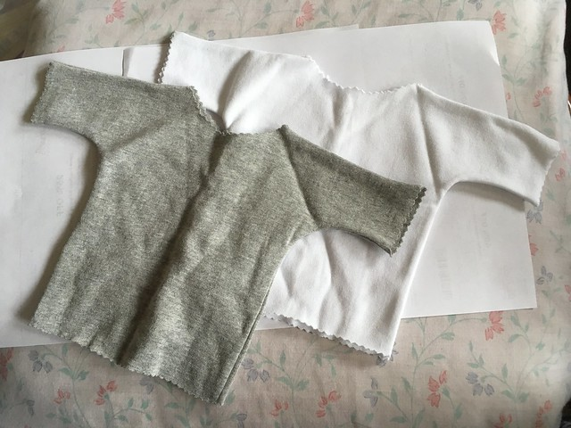 Grey and white t-shirts - SD or Dollshe sized 10 for two