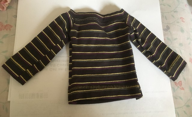 Black striped t-shirt for SD girls (Lishe sized) looks better on than off 15