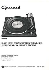 Garrard TechEng Service Manual SL95B