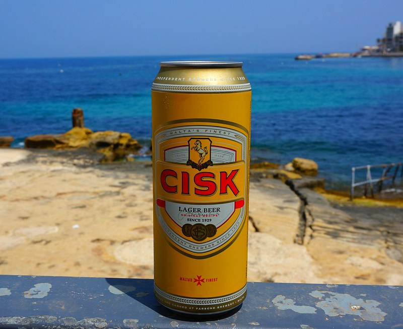 What to Drink in Malta: Cisk Beer
