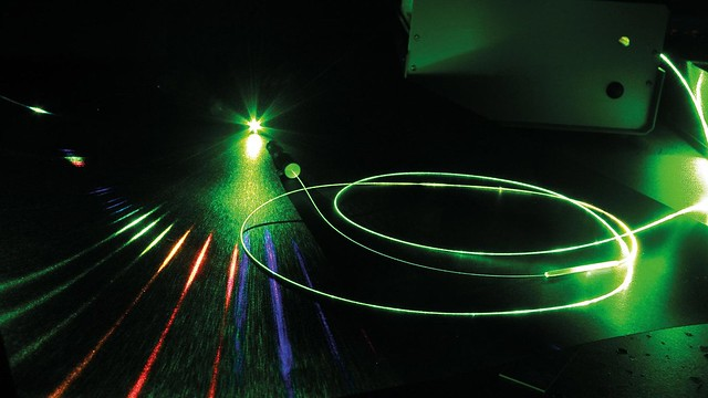 light beams in a physics experiment