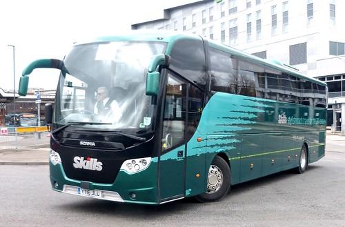YT16 JLU 'Skills Coaches'. Scania / Lahden (Finland) OmniExpress /1 on Dennis Basford's railsroadsrunways.blogspot.co.uk'