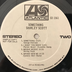 SHIRLEY SCOTT:SOMETHING(LABEL SIDE-B)
