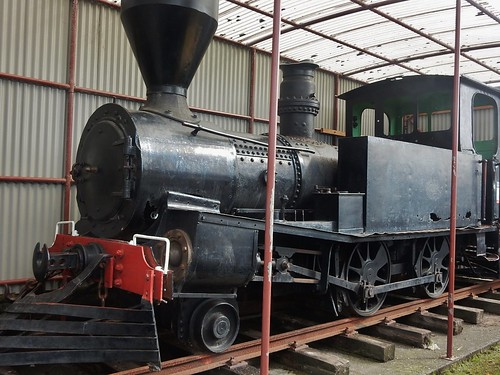 Old Steam Train in Shed