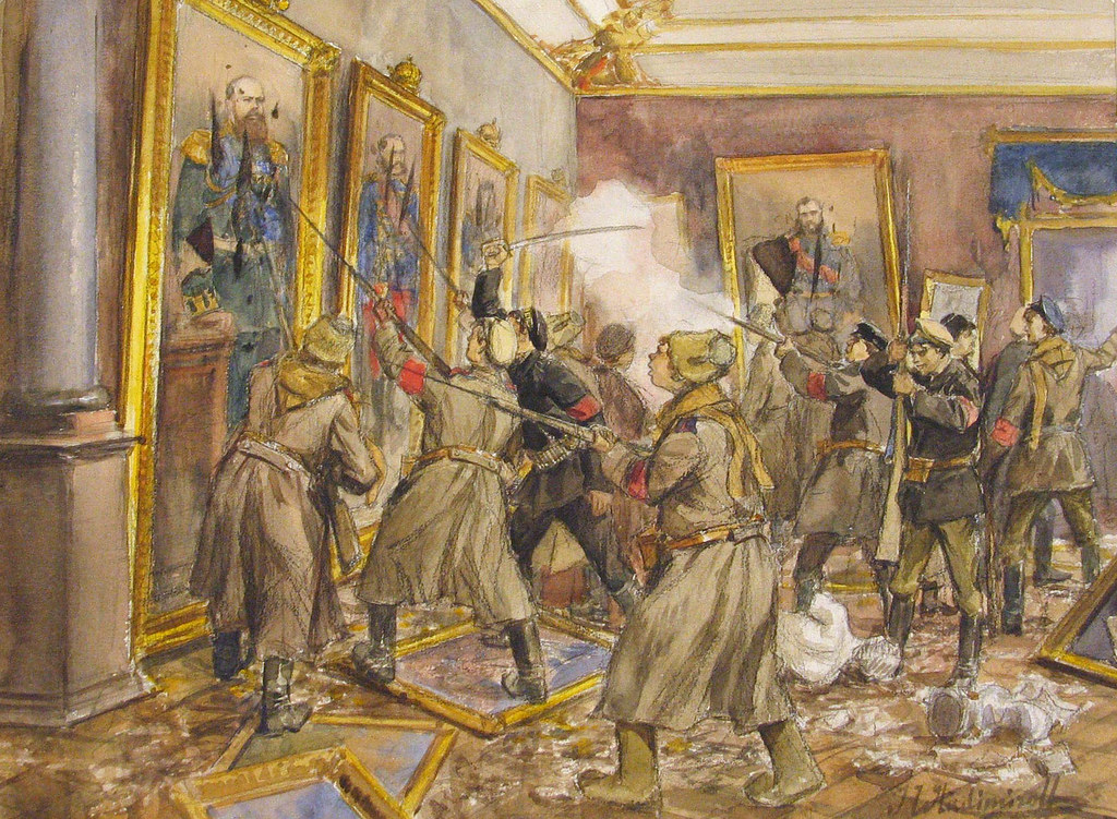 俄国内战与革命的写实绘画02