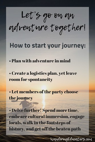 Let's go on an adventure together - here are a few ways to start your journey: