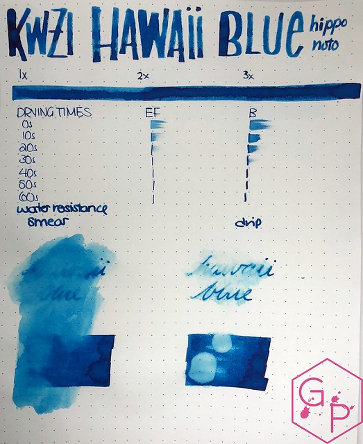 KWZ Ink Hawaii Blue Ink Review 8
