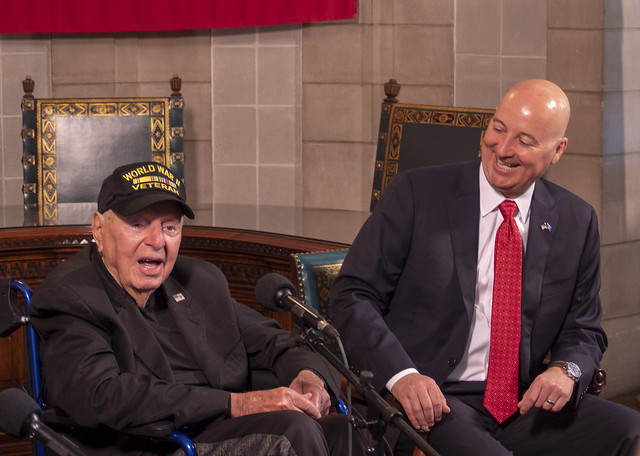 Gov. Ricketts Welcomes WWII Veteran to Nebraska