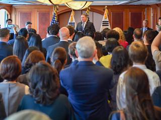 Secretary Pompeo Addresses U.S. Embassy Seoul Employees