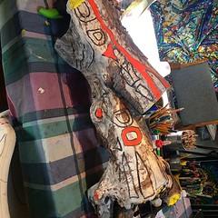 Driftwood totem