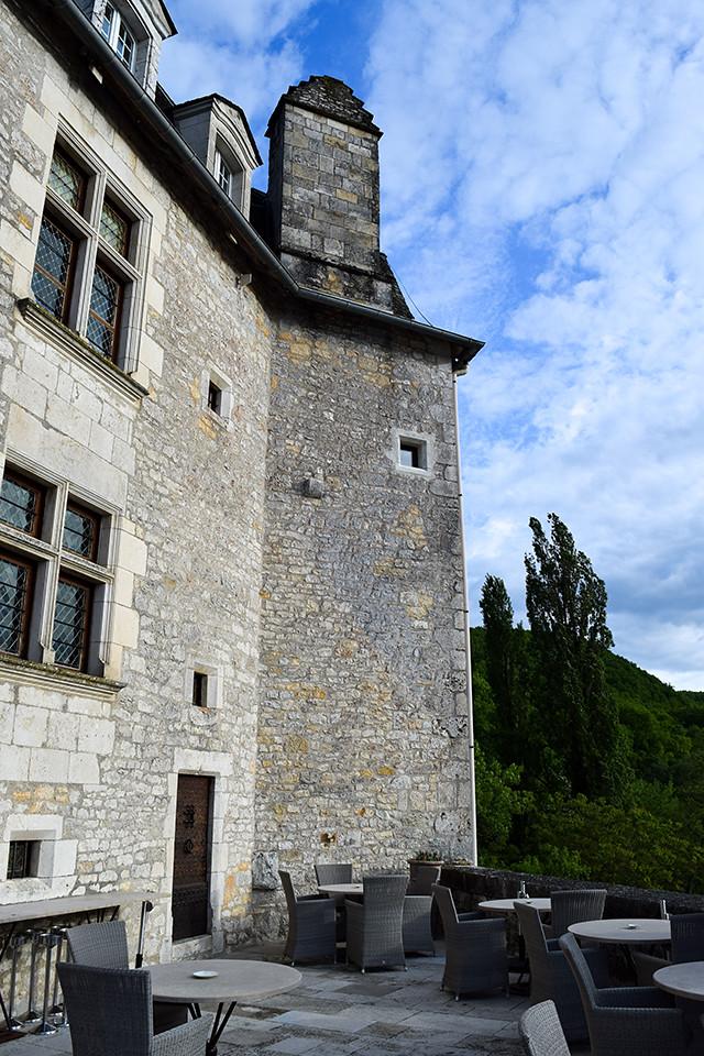 Terrace at Chateau de la Treyne