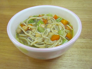 1-Pot Chickpea Noodle Soup