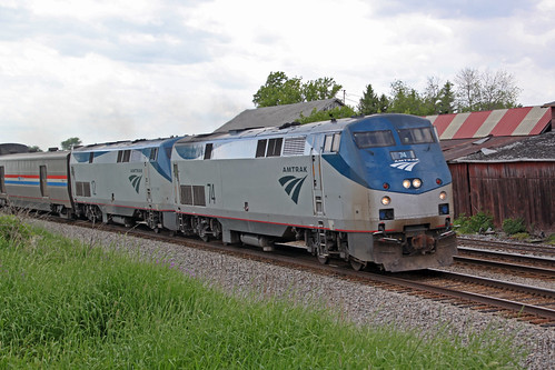 Amtrak 74 leads Number 8 through Reeseville