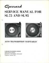 Garrard TechEng Service Manual SL75 SL95
