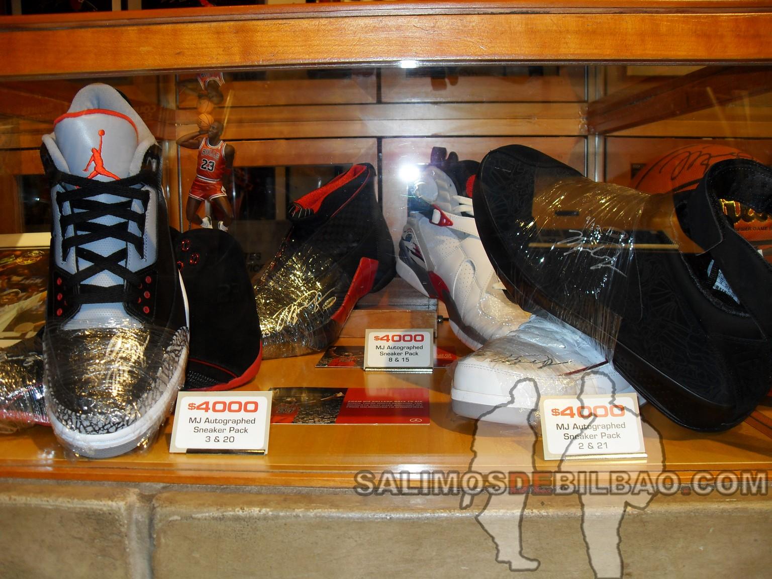 Jordan shoes autographed