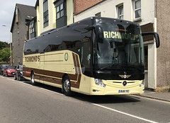 Richmond 's Coaches . Barley , Royston , Hertfordshire . BU18YRZ . Stansted Road , Bishop's Stortford , Hertfordshire . Friday 08th-June-2018 .