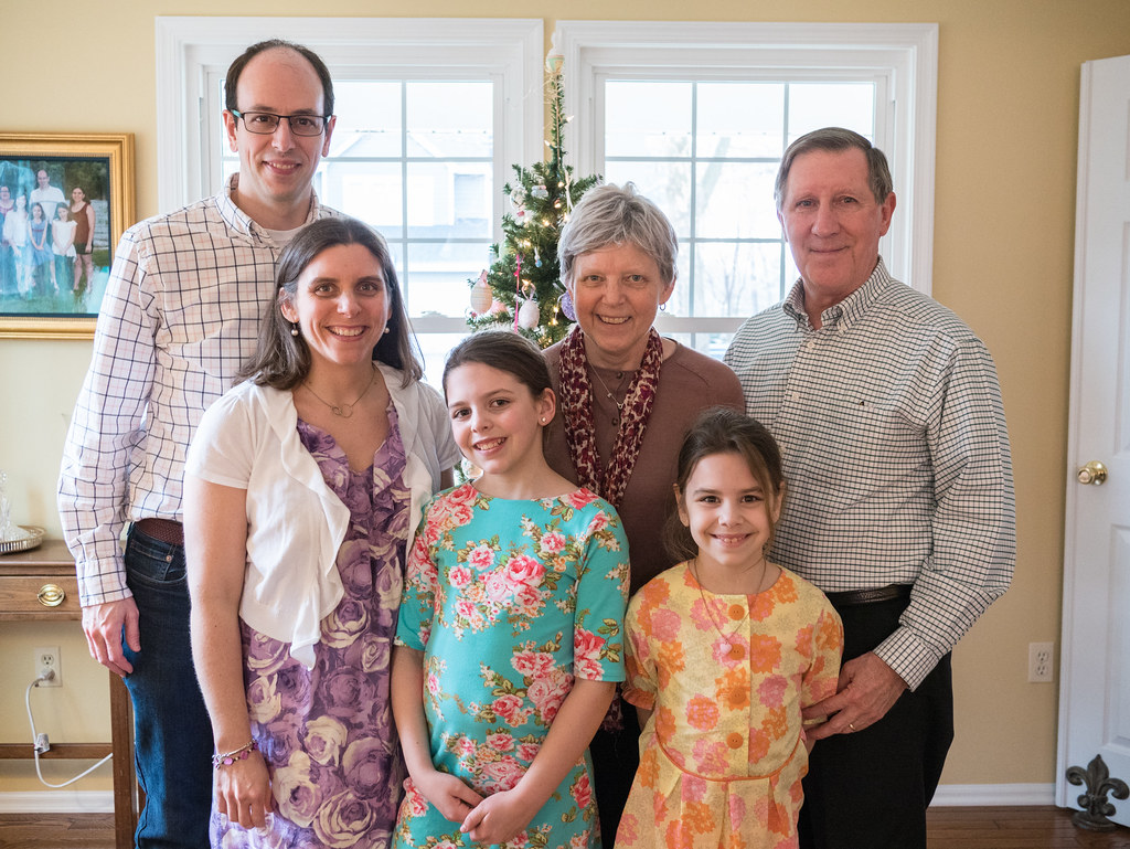 Batson family Easter photo