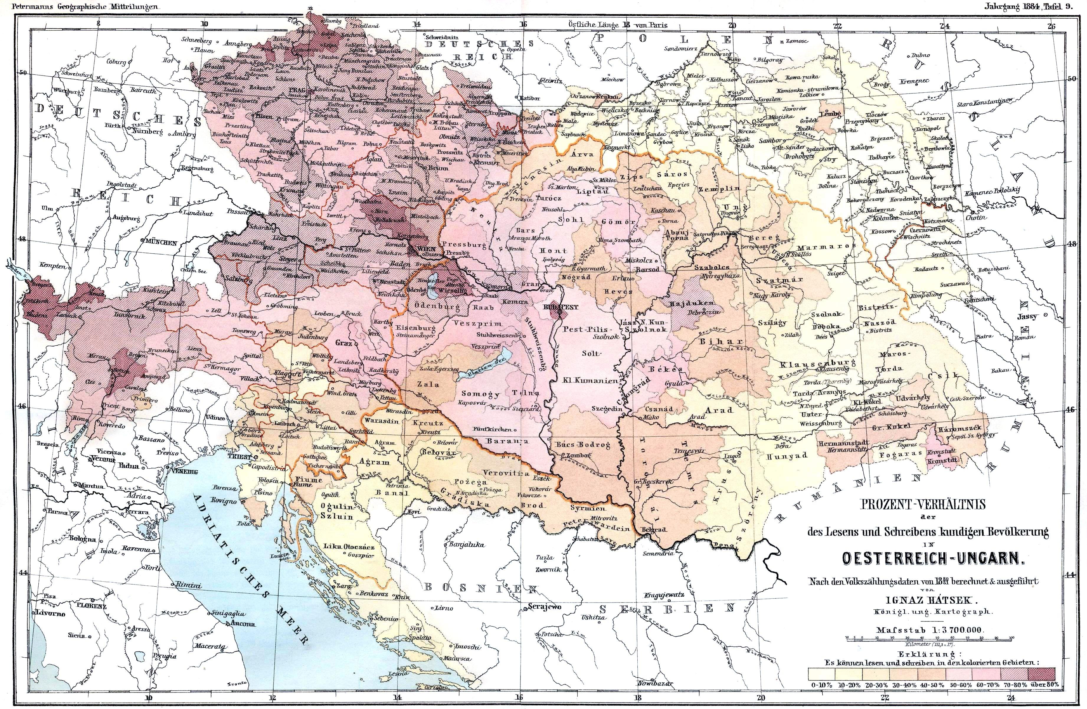 Literacy in Austria-Hungary (census 1880)