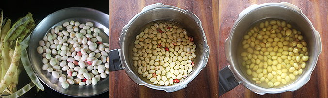 How to make butter beans kuzhambu recipe - Step1