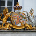 Queen Victoria's Arms on an old hotel at the Pantiles, Tunbridge Wells