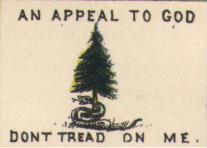 A version of the Pine Tree flag, combining it with the Rattlesnake flag.