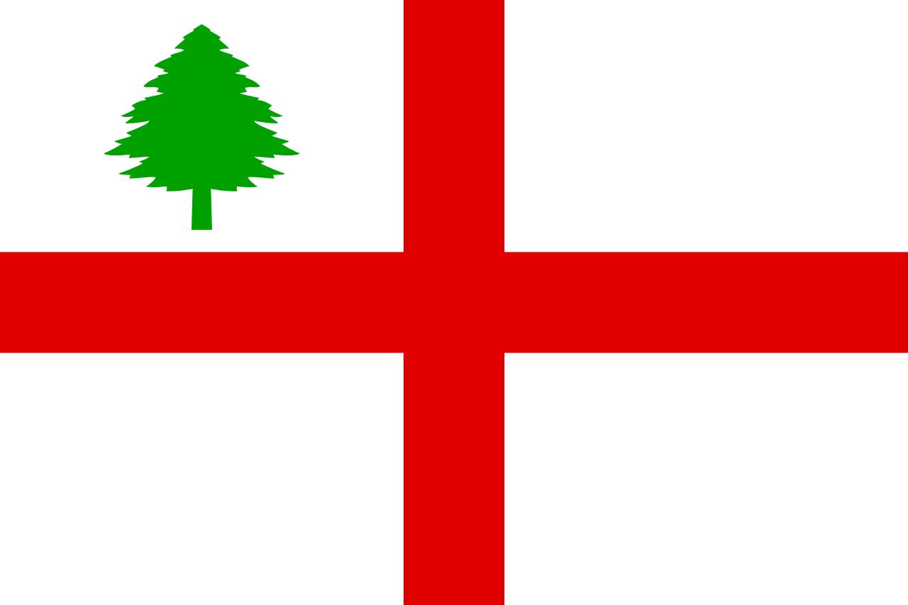 Flag of New England, 1686