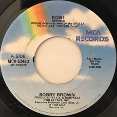 BOBBY BROWN:RONI(LABEL SIDE-A)
