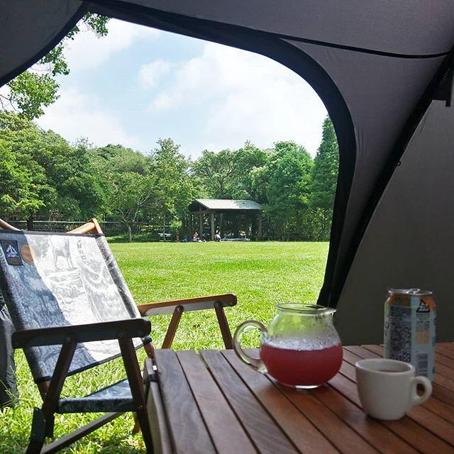 20180617 感謝老天 乾燥撤收(雙手合十) #歐北露 #campinglife #ilovecamping #blackdesign #minimalworks #boniato