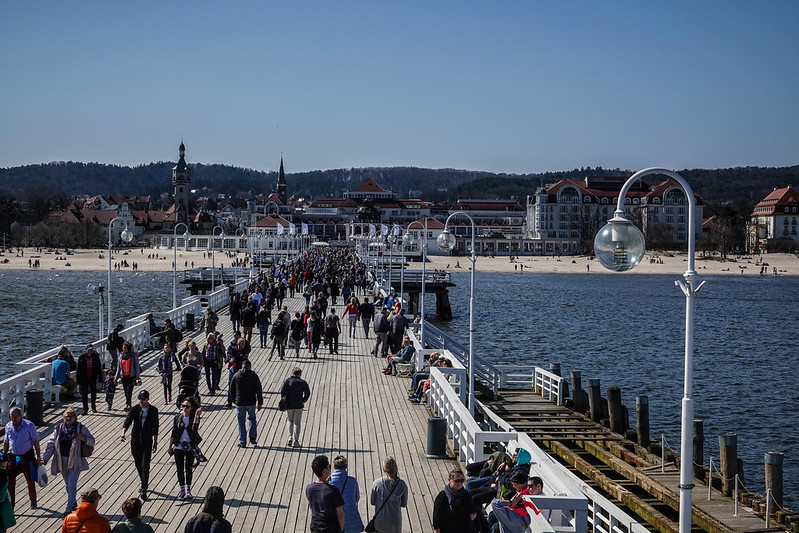 The Molo pier towards Sopot