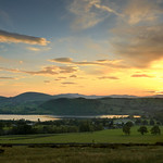 26. Mai 2018 - 22:14 - Sunset over the Lakeland Fells. A shot from Roe Head overlooking the beautiful Lake Ullswater. Parkfoot campsite in the middle ground and the twin peaks of the 'Saddleback' Blencathra on the horizon.