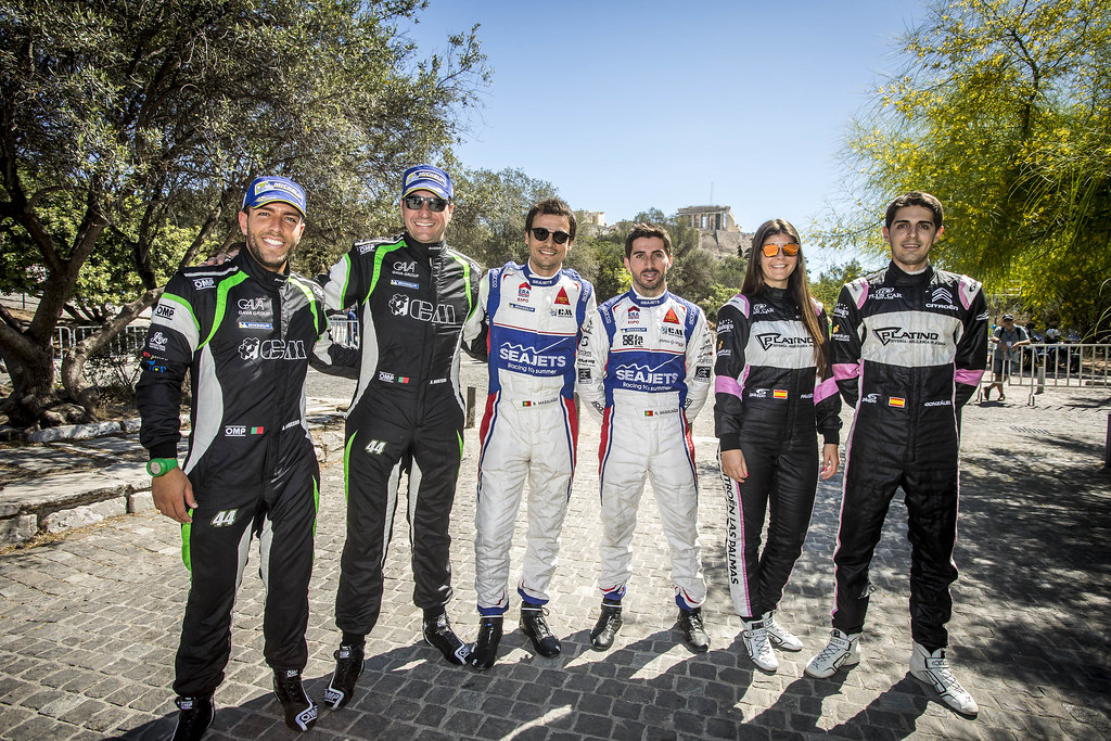 MONTEIROI  Aloisio (prt),  COUCEIRO Andre (prt), Skoda Fabia R5, portrait MAGALHAES Bruno (prt), MAGALHAES Hugo (prt), SKODA FABIA R5, portrait FALCON Emma (esp), GONZALES DELGADO Eduardo (esp), Citroen DS3 R3T, portrait during the European Rally Championship 2018 - Acropolis Rally Of Grece, June 1 to 3 at Lamia - Photo Gregory Lenormand / DPPI