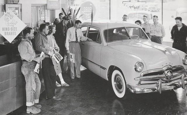 1949 Ford V8 Sedan Showroom Press Photo - USA