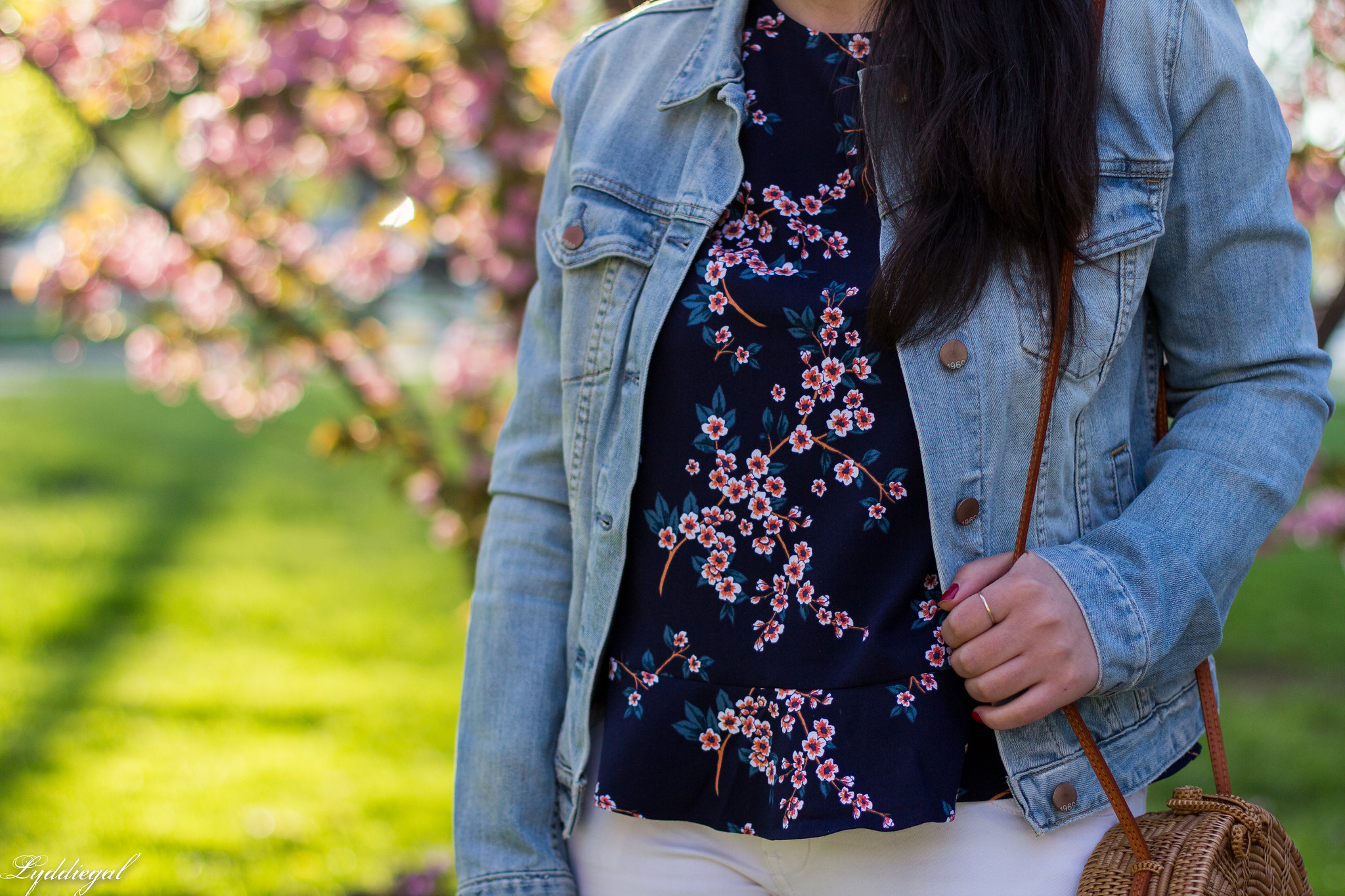 denim jacket, cherry blossom print blouse, white jeans, blue loafers-14.jpg