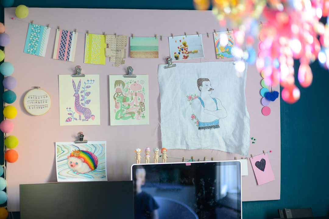Pastels, kitsch and art on the mood board