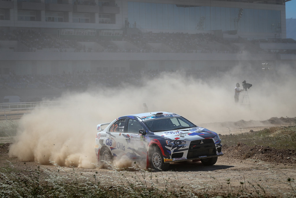 22 PANTELI Petros (cyp), Q8,  Mitsubishi Lancer EVO X, action during the European Rally Championship 2018 - Acropolis Rally Of Grece, June 1 to 3 at Lamia - Photo Alexandre Guillaumot / DPPI