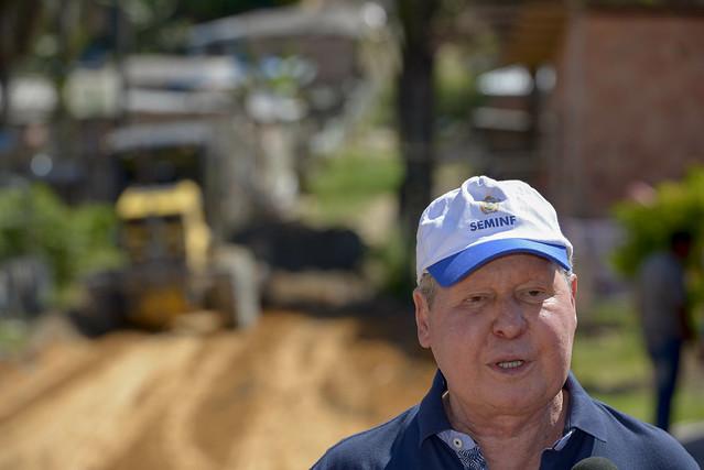 12.06.18 Prefeito vistoria obras no lago azul zona norte de Manaus