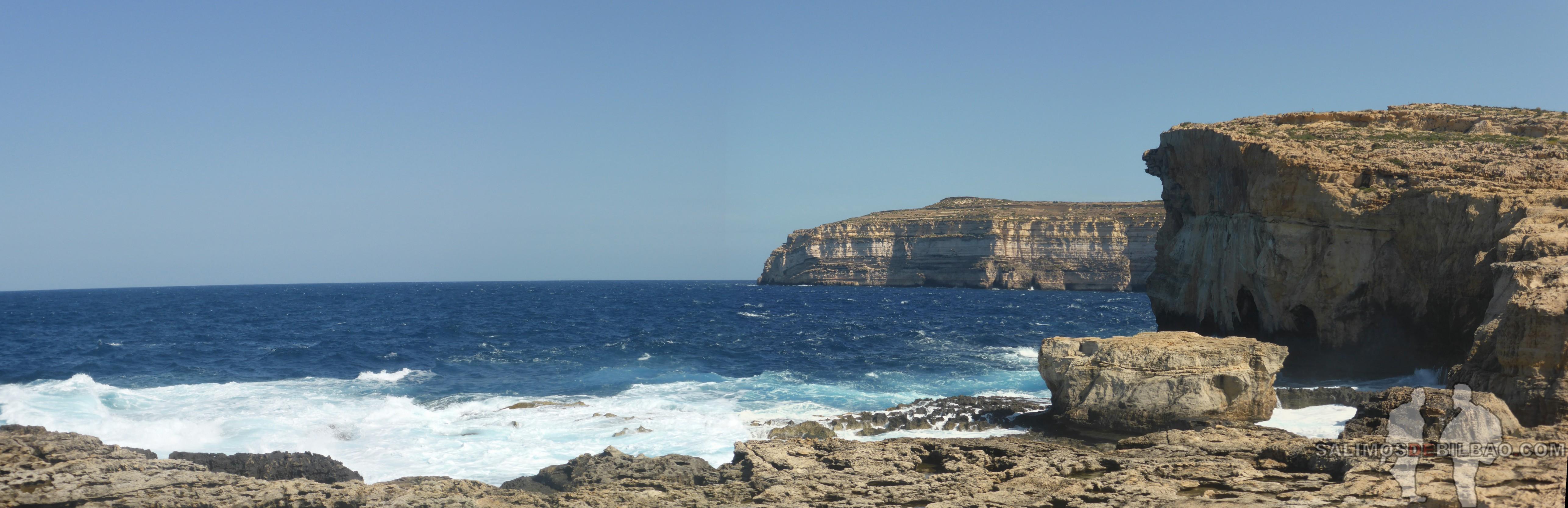 0541. Pano, Antiguo Azure Window y Blue Hole, Gozo