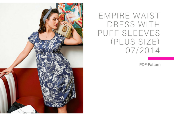 Empire Waist Dress with Puff Sleeves