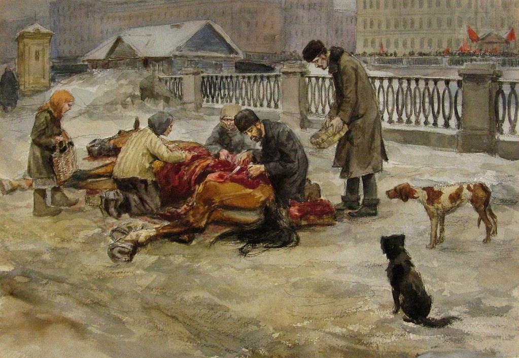 俄国内战与革命的写实绘画19