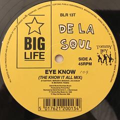 DE LA SOUL:EYE KNOW(LABEL SIDE-A)
