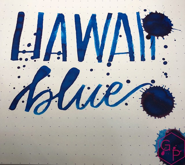 KWZ Ink Hawaii Blue Ink Review 16