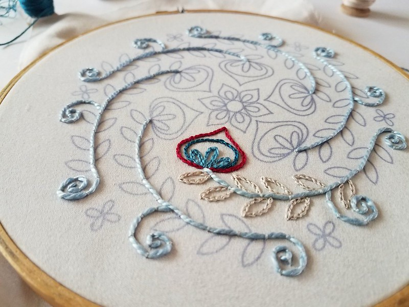 stitching for Mandalas to Embroider book review for Feeling Stitchy by floresita