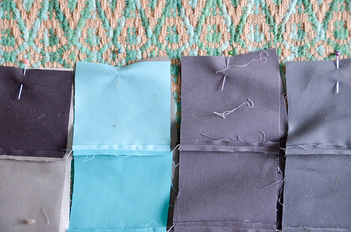 5. Pin & sew columns together, right sides together.